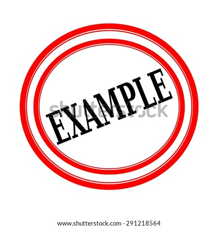 EXAMPLE black stamp text on white backgroud - stock photo