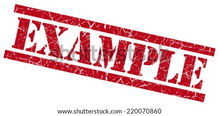 example red grungy stamp isolated on white background - stock photo