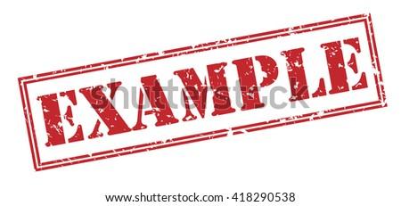 Example stamp - stock photo