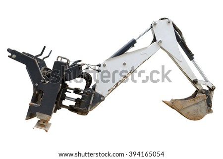 excavator bucket isolated on white background - stock photo
