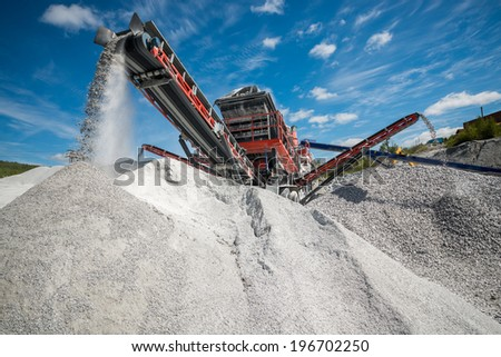 Excavators digging  - stock photo