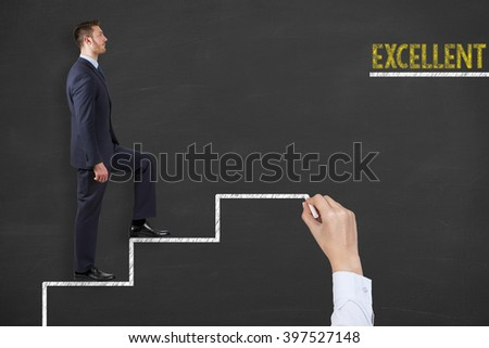 Excellent Concept on Stairs - stock photo