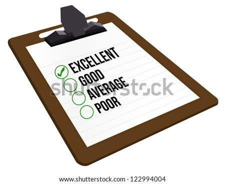 excellent customer rating illustration design over a white background - stock photo