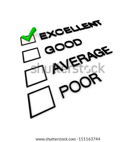 Excellent Customer Service Evaluation
