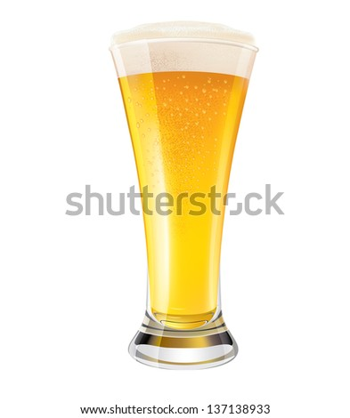 Excellent Glass of Beer EPS10