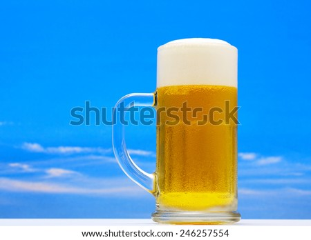 Excellent Isolated glass of beer