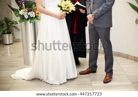 exchanging wedding vows and wedding rings
