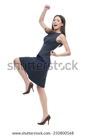 Excited young woman