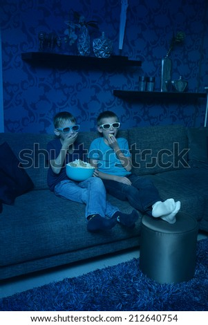 Exciting entertainment with 3D - stock photo