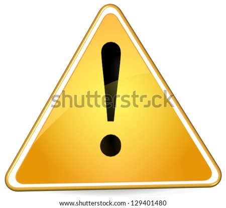 exclaimation alert sign - stock photo