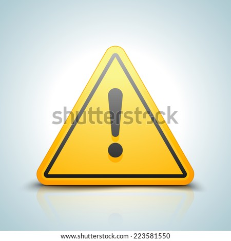Exclamation danger sign - stock photo