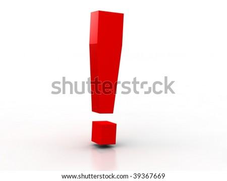 exclamation mark - stock photo