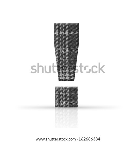 exclamation mark plaid fabric texture - stock photo