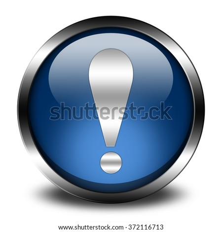 exclamation sign button isolated