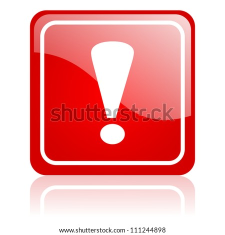 exclamation sign icon - stock photo