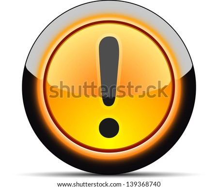 Exclamation warning sign - stock photo
