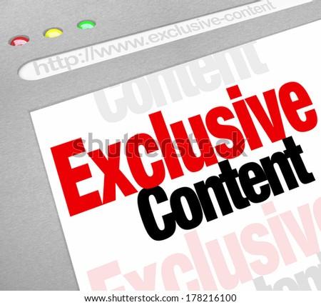Exclusive Content Website Internet Resource Restricted Access Password - stock photo