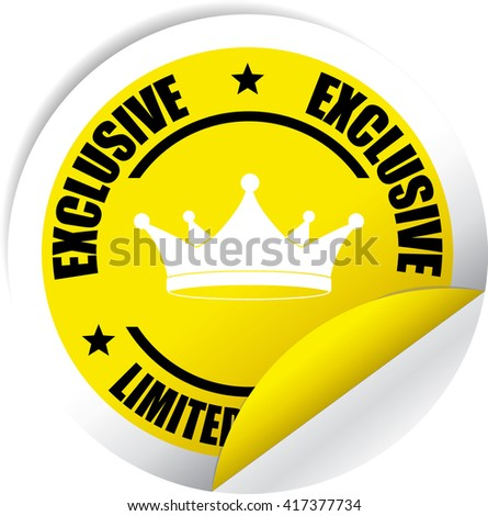 Exclusive Limited Edition Yellow Label, Sticker, Tag, Sign And Icon Banner Business Concept, Design Modern. - stock photo