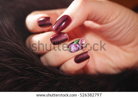 Nail design stock images royalty free images vectors shutterstock exclusive nail designs in the color of the fur the gel polish painted flowers prinsesfo Image collections