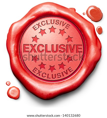 Exclusive Icon exclusive offer or VIP