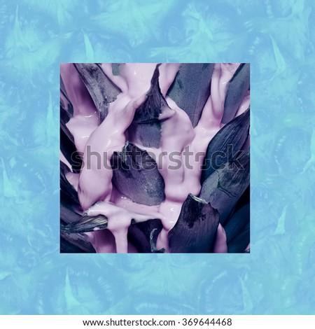 Exclusive Pineapple print. Pink Vanilla - stock photo