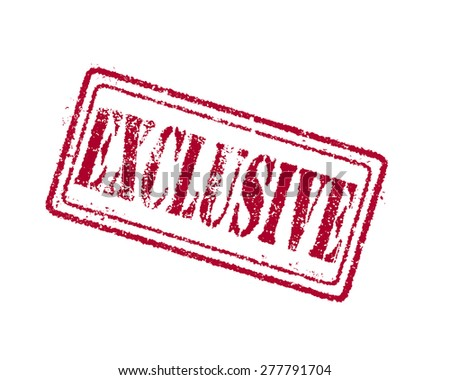 Exclusive red STAMP. - stock photo