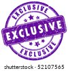 Exclusive stamp - stock vector