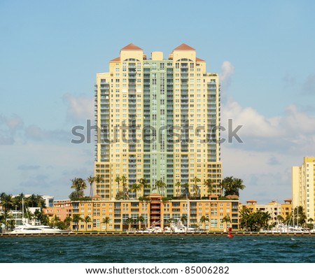 Exclusive waterfront apartments in Miami Beach, Florida