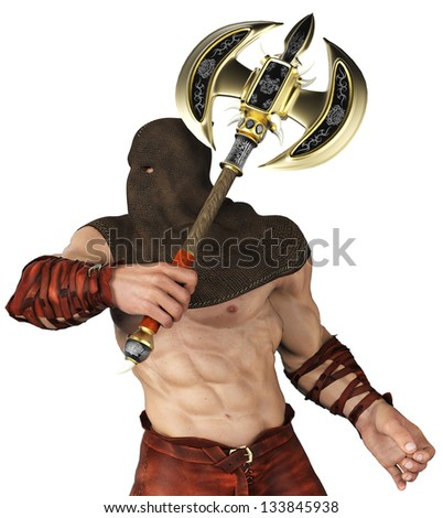 executioner close up - stock photo