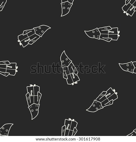 executioner doodle seamless pattern background