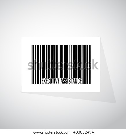 executive assistance barcode sign concept illustration design graphic - stock photo
