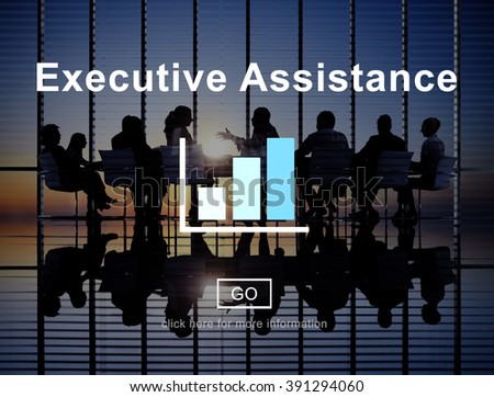 Executive Assistance Business Collaboration Helping Concept - stock photo
