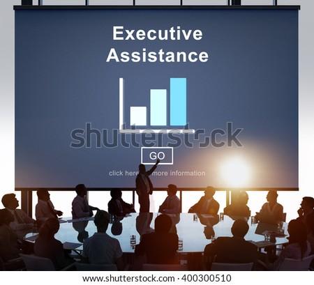 Executive Assistance Corporate Business Web Online Concept - stock photo
