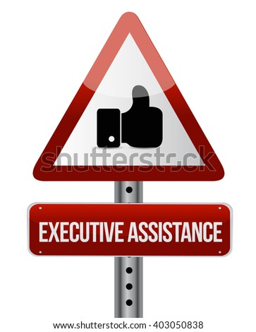 executive assistance like road sign concept illustration design graphic - stock photo