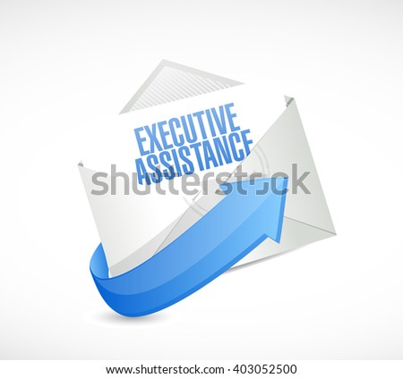 executive assistance mail sign concept illustration design graphic - stock photo