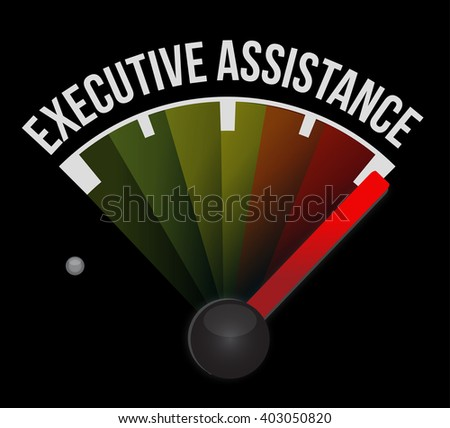 executive assistance meter sign concept illustration design graphic - stock photo