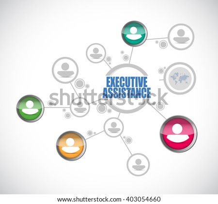 executive assistance people diagram sign concept illustration design graphic - stock photo