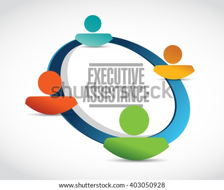 executive assistance people network sign concept illustration design graphic - stock photo