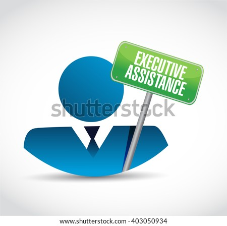 executive assistance people sign concept illustration design graphic - stock photo