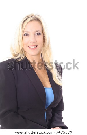 executive blonde business woman