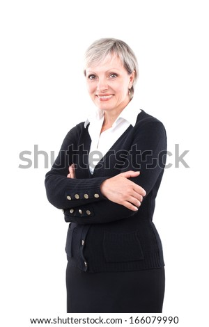 Executive business woman. Isolated over white background Executive business woman. Isolated over white background Executive business woman. Isolated over white background  - stock photo