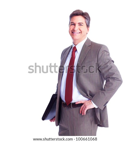 Executive businessman. Isolated on white background.