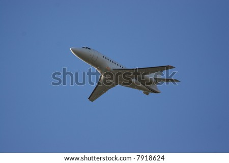 Executive Cessna citation sovereign commuter travels at high speed to transport the jet set to their next location - stock photo