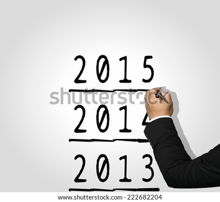 Executive Hand writing 2015 - stock photo