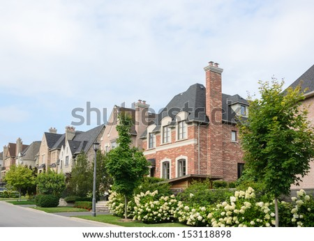 Executive homes - stock photo