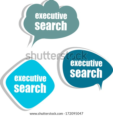executive search. Set of stickers, labels, tags. Business banners, Template for infographics