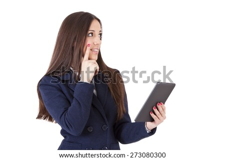 executive woman in thought - stock photo