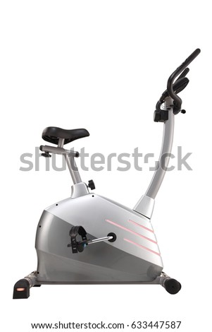 Exercise bike isolated on white background