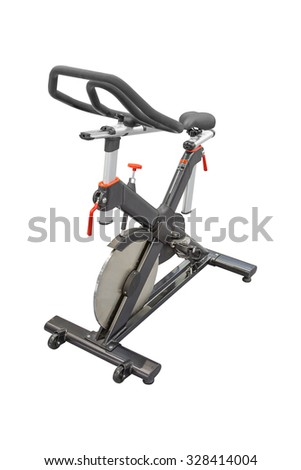 exercise bike on a white background