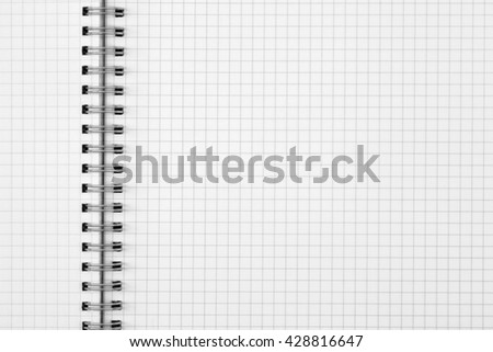 exercise book paper sheet background or grid pattern texture